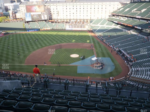 Oriole Park at Camden Yards Section 348 view