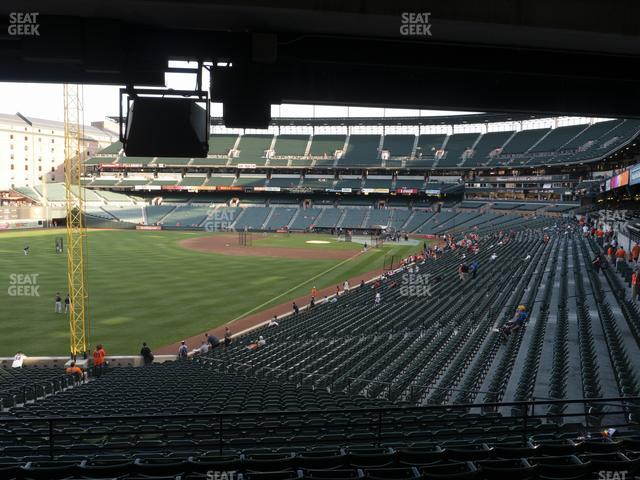 Oriole Park at Camden Yards Section 75 view