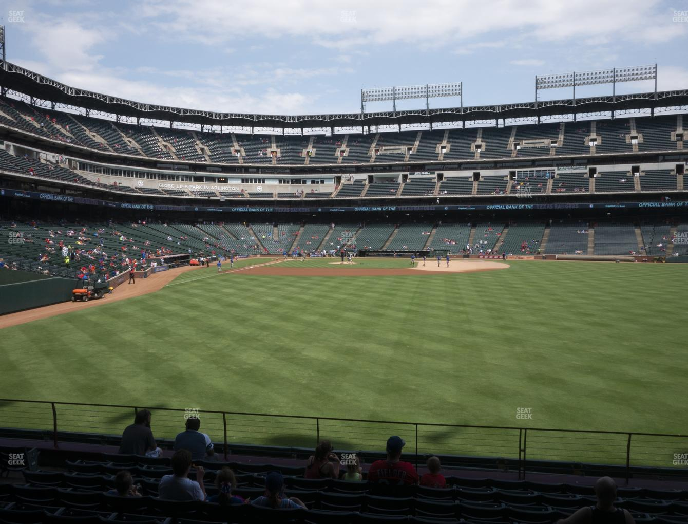 Texas Rangers at Globe Life Park Section 46 View