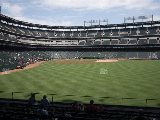 Globe Life Park Section 46 view