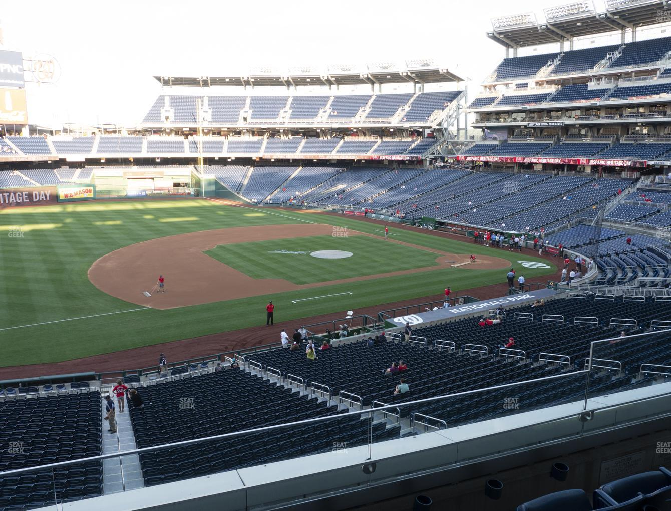 Washington Nationals at Nationals Park Section 206 View