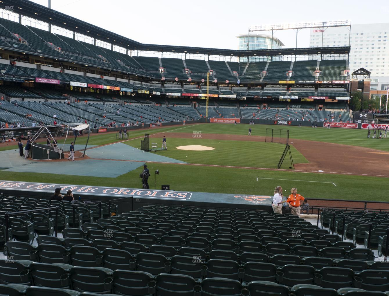 Baltimore Orioles at Oriole Park at Camden Yards Section 22 View