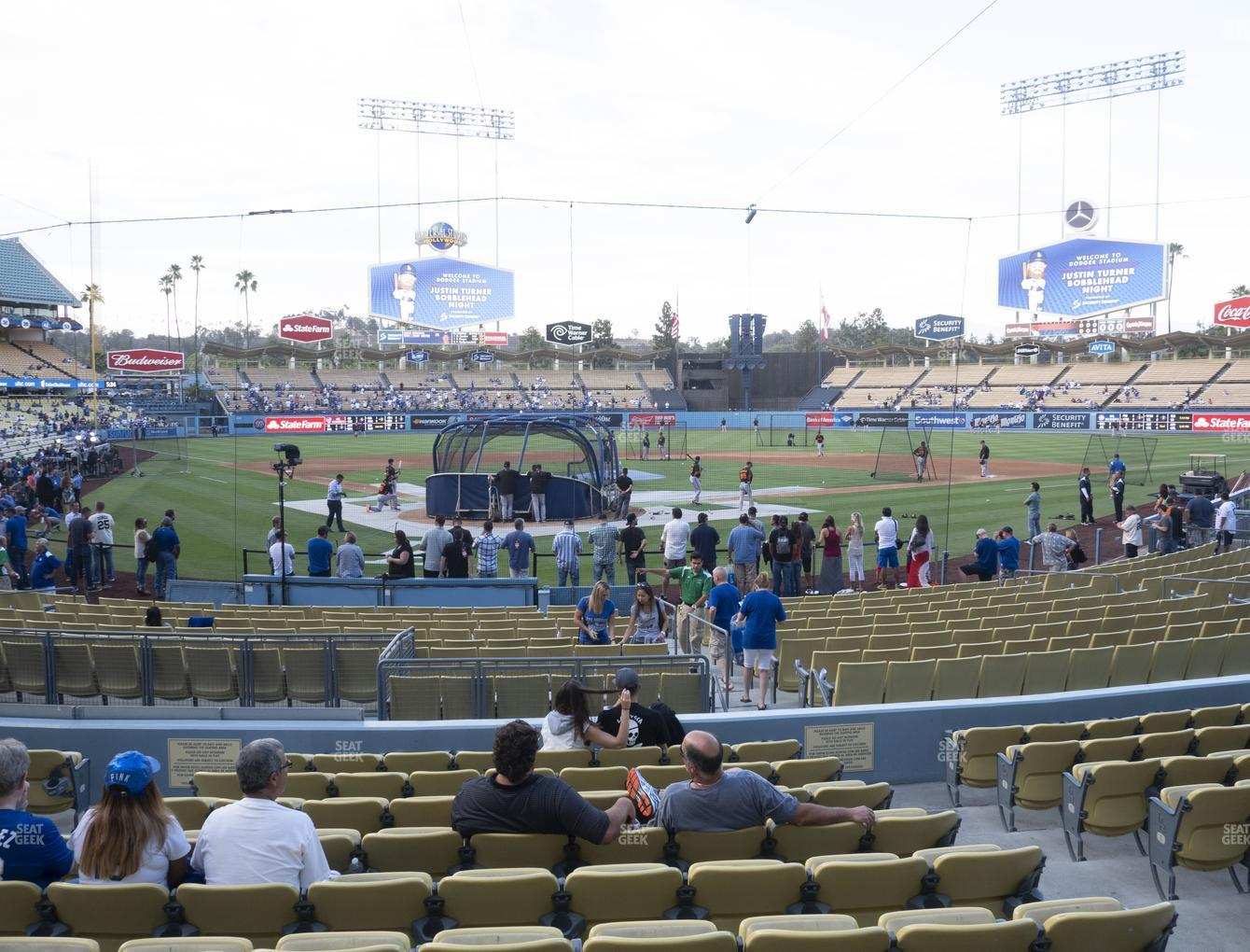 Los Angeles Dodgers at Dodger Stadium Field Box 4 View