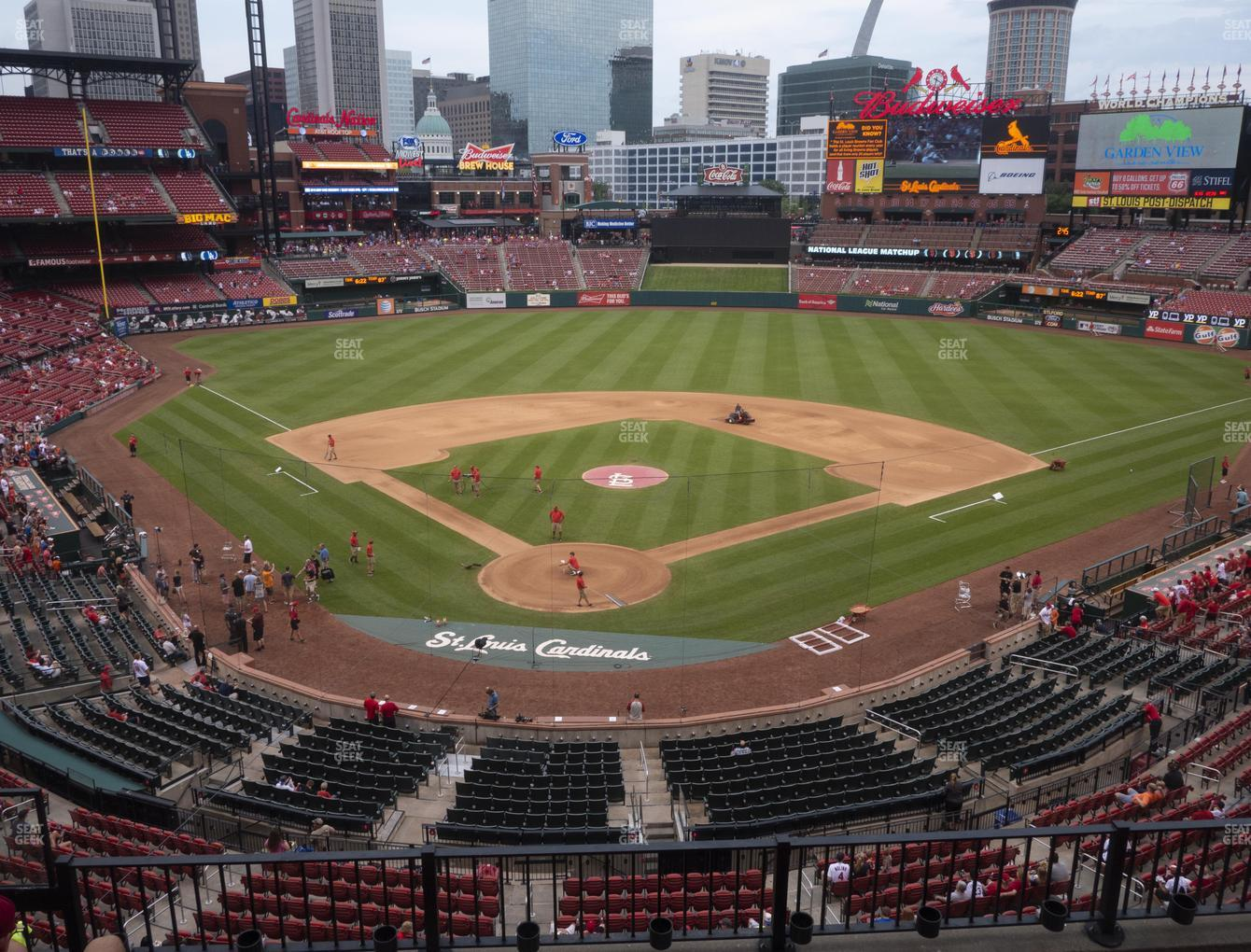 St. Louis Cardinals at Busch Stadium Home Redbird Club 249 View