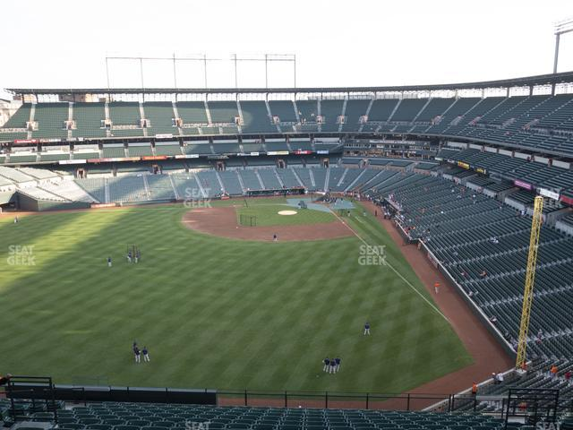 Oriole Park at Camden Yards Section 384 view