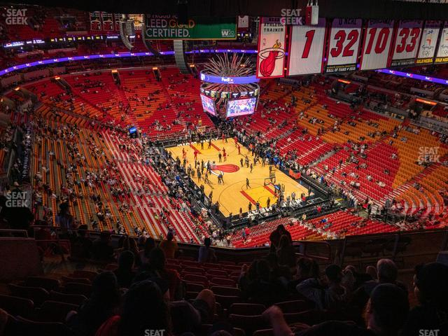 American Airlines Arena Section 408 view