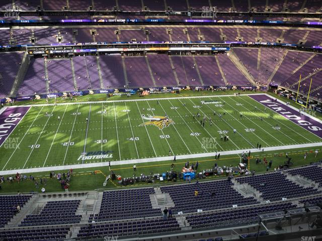 U.S. Bank Stadium Section 342 view