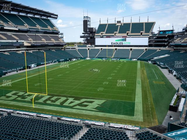 Lincoln Financial Field Section M 13 view