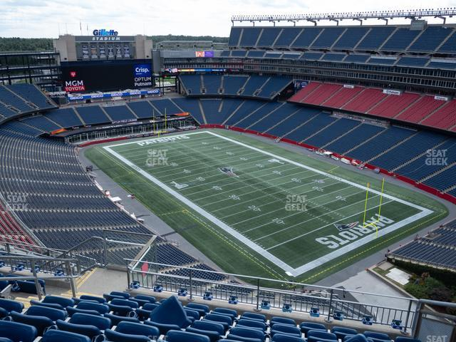 Gillette Stadium Section 301 view