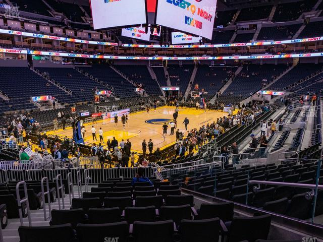 Chase Center Section 119 view