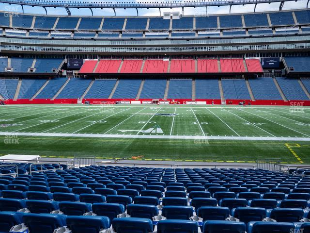 Gillette Stadium Section 131 view
