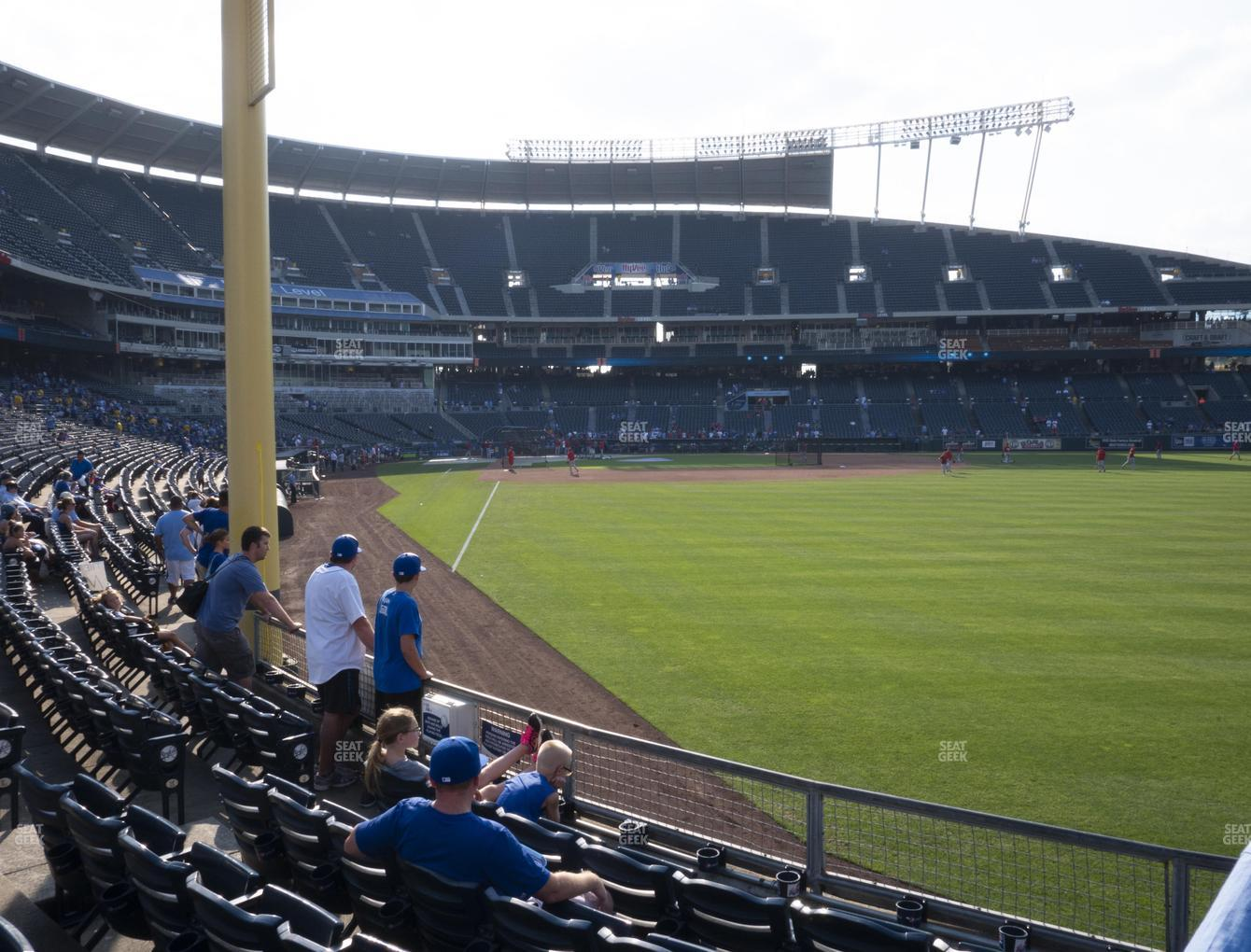 Kansas City Royals at Kauffman Stadium Section 148 View