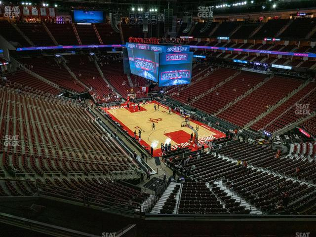 Toyota Center Section 404 view