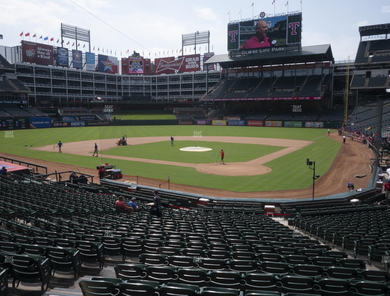 Texas Rangers at Globe Life Park Section 24 View