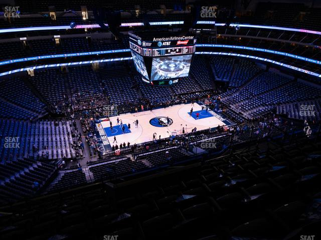 American Airlines Center Section 328 view
