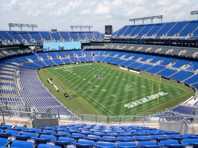 M&T Bank Stadium Section 518 view