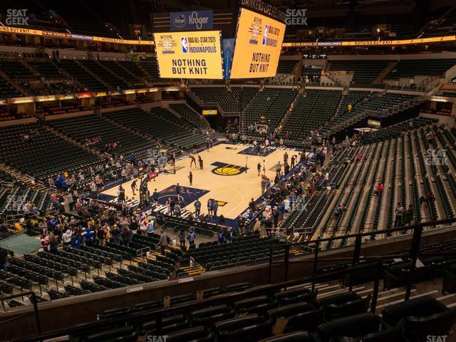 Bankers Life Fieldhouse Section 109 view