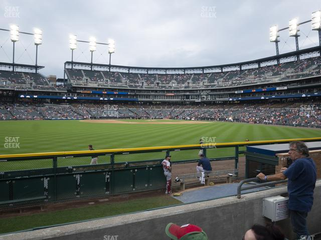Comerica Park Section 151 view