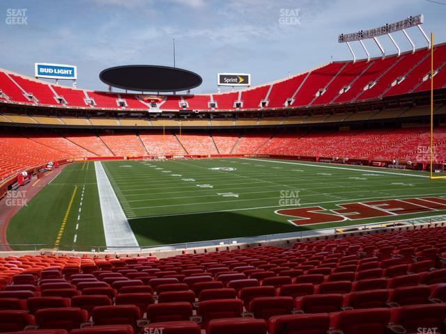 Arrowhead Stadium Section 112 view