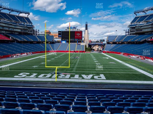 Gillette Stadium Section 120 view