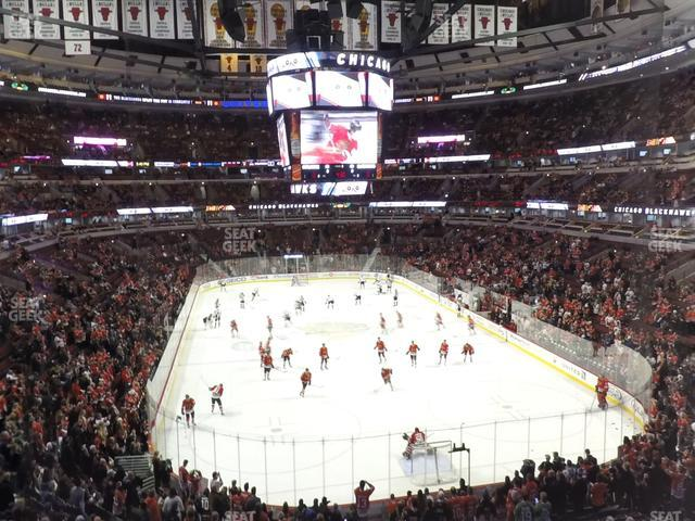 United Center Section 210 view