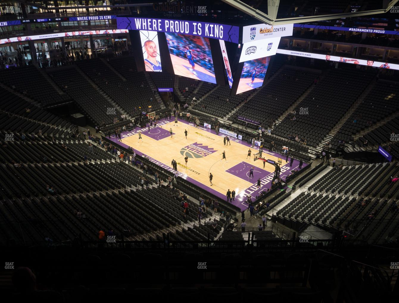 Sacramento Kings at Golden 1 Center Section 215 View