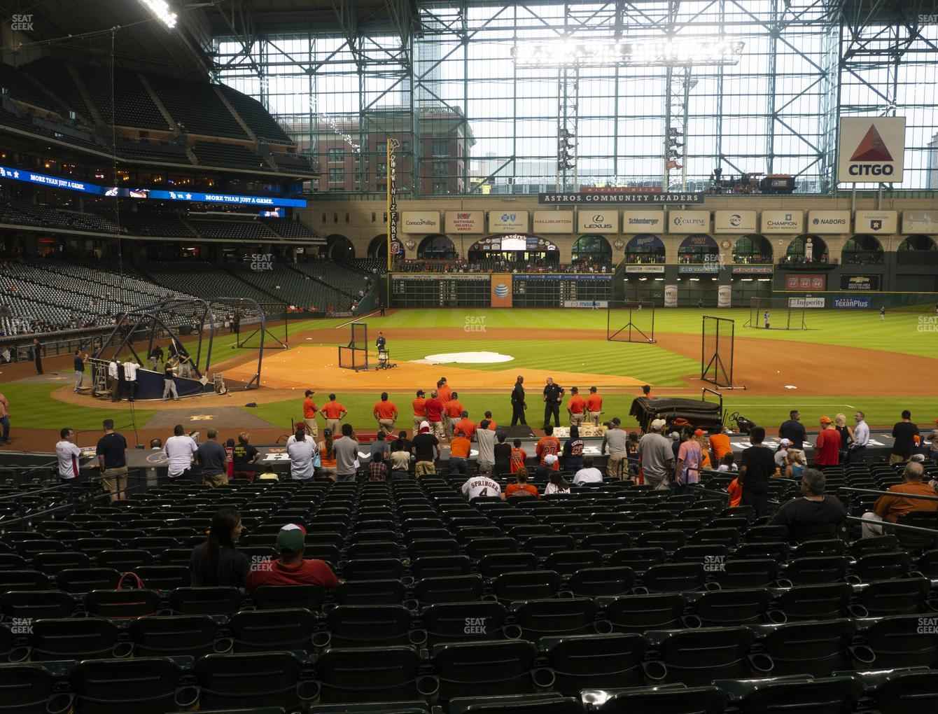 Houston Astros at Minute Maid Park Section 125 View