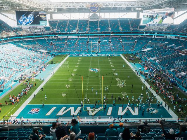 Hard Rock Stadium Section 304 view