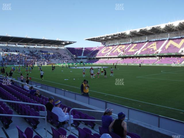 Exploria Stadium Section 10 view