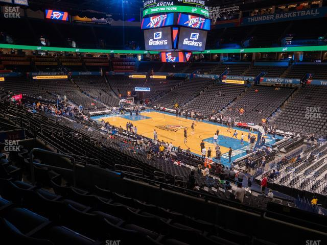 Chesapeake Energy Arena Section 220 view