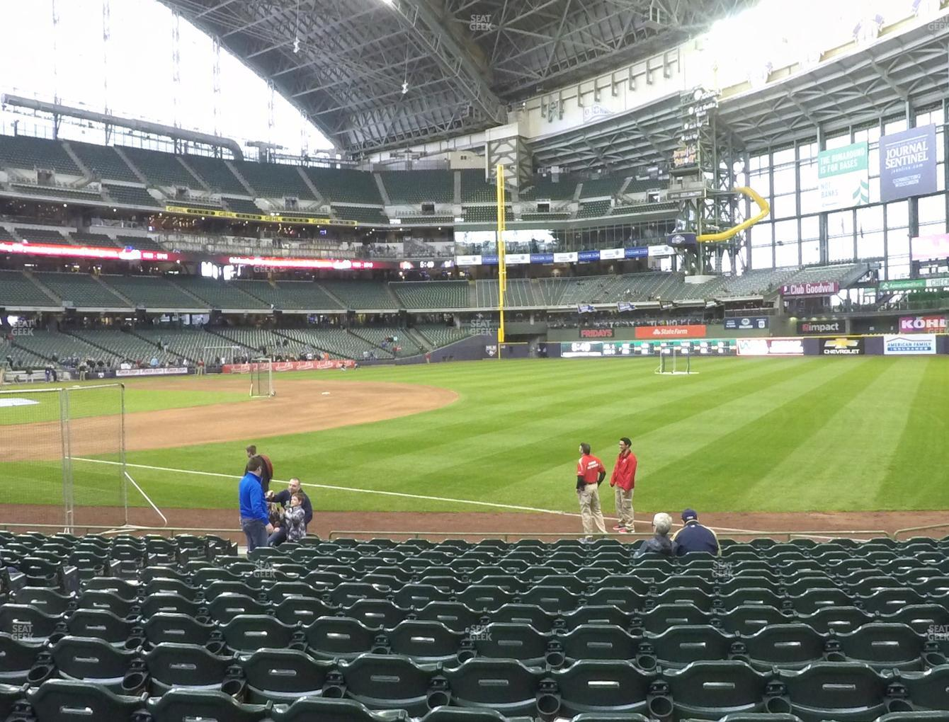 Milwaukee Brewers at Miller Park Section 109 View