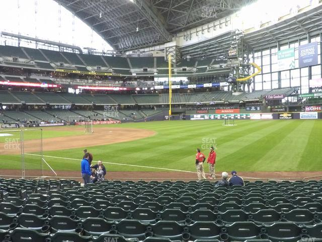 Miller Park Section 109 view