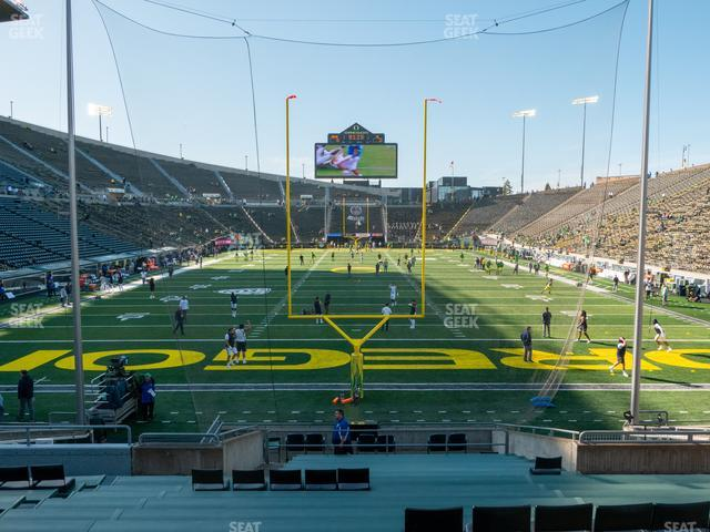 Autzen Stadium Section 21 view