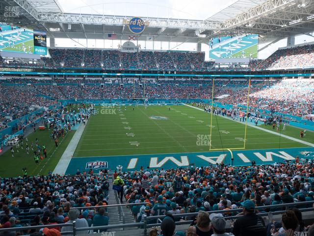 Hard Rock Stadium Section 233 view