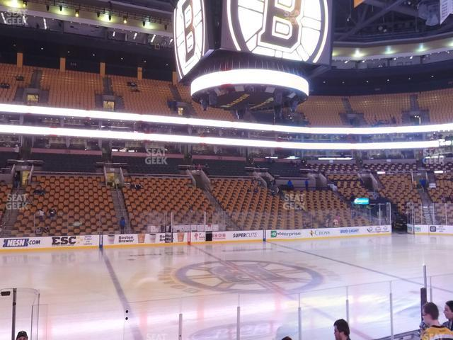 TD Garden Section Loge 2 view