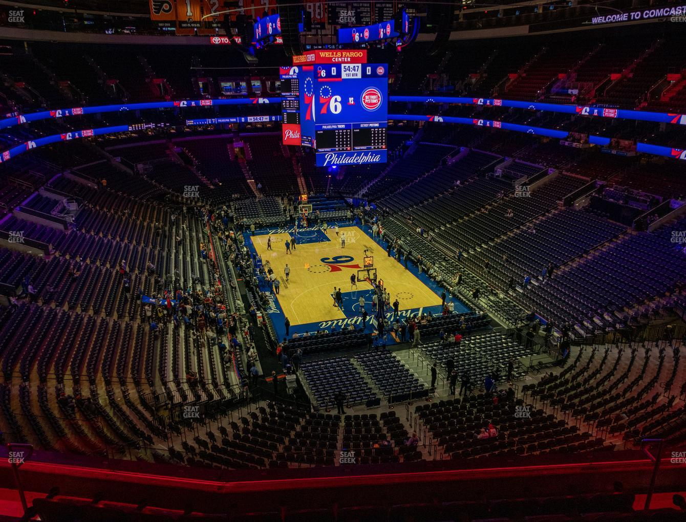 Philadelphia 76ers at Wells Fargo Center Section 206 View