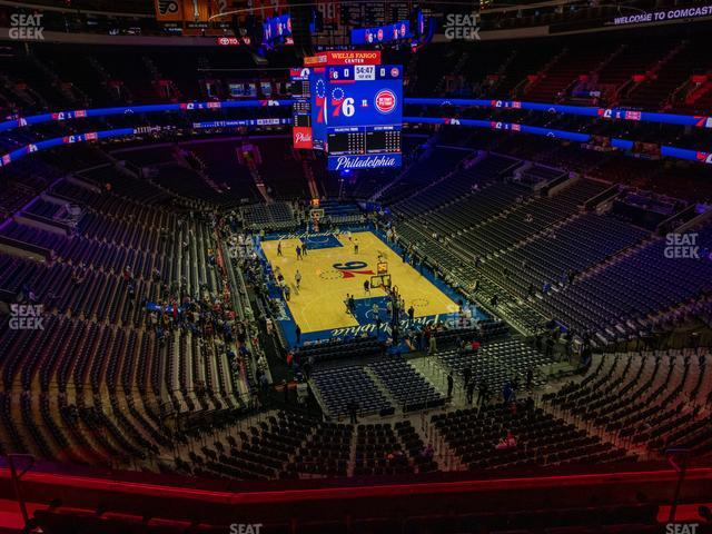 Wells Fargo Center Section 206 view
