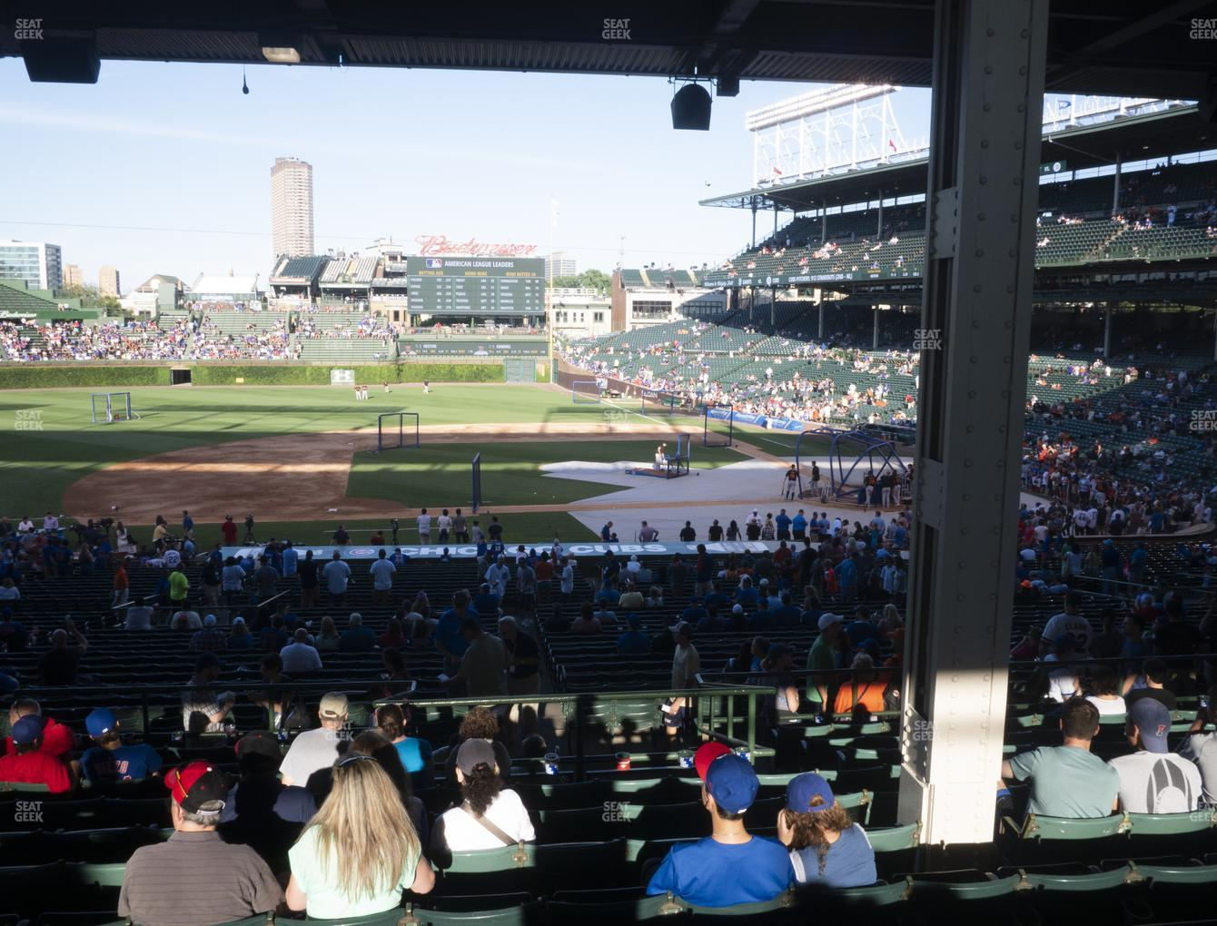 Chicago Cubs at Wrigley Field Section 212 View