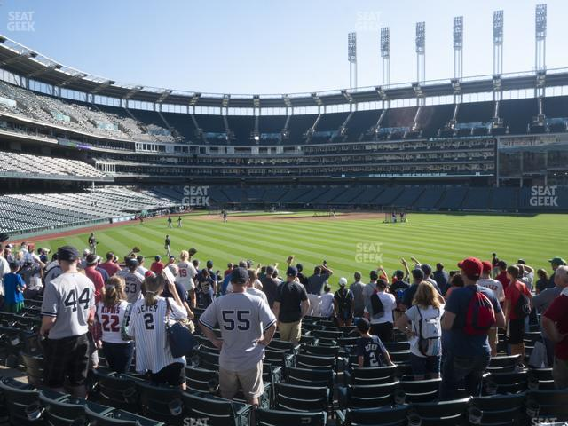 Progressive Field Section 108 view