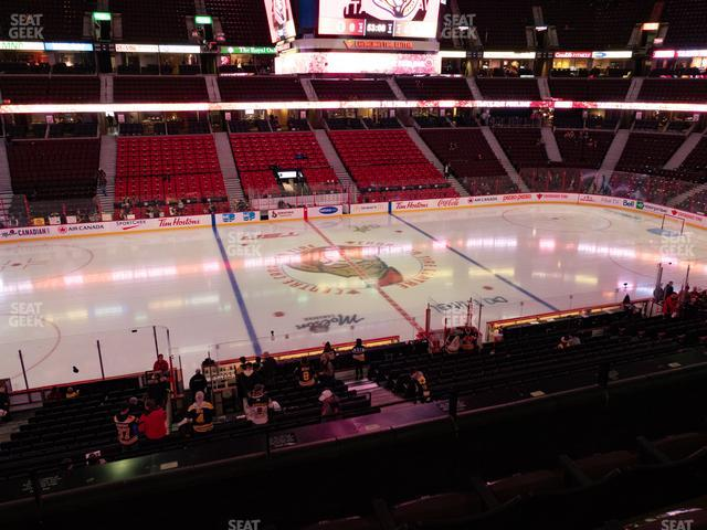 Canadian Tire Centre Section 210 view