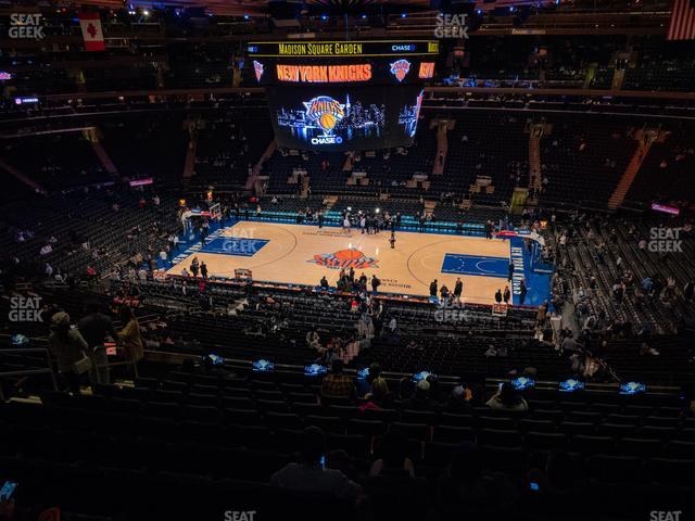Madison Square Garden Section 212 view