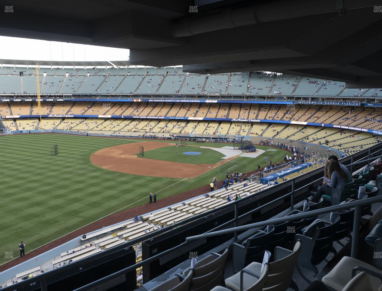 Los Angeles Dodgers at Dodger Stadium Section Club 237 View
