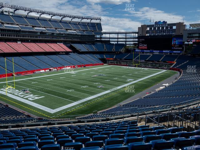 Gillette Stadium Section 238 view