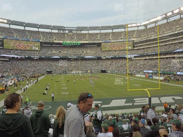 MetLife Stadium Section 128 view