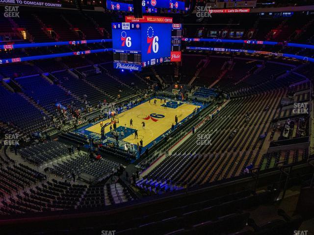 Wells Fargo Center Section 209 A view