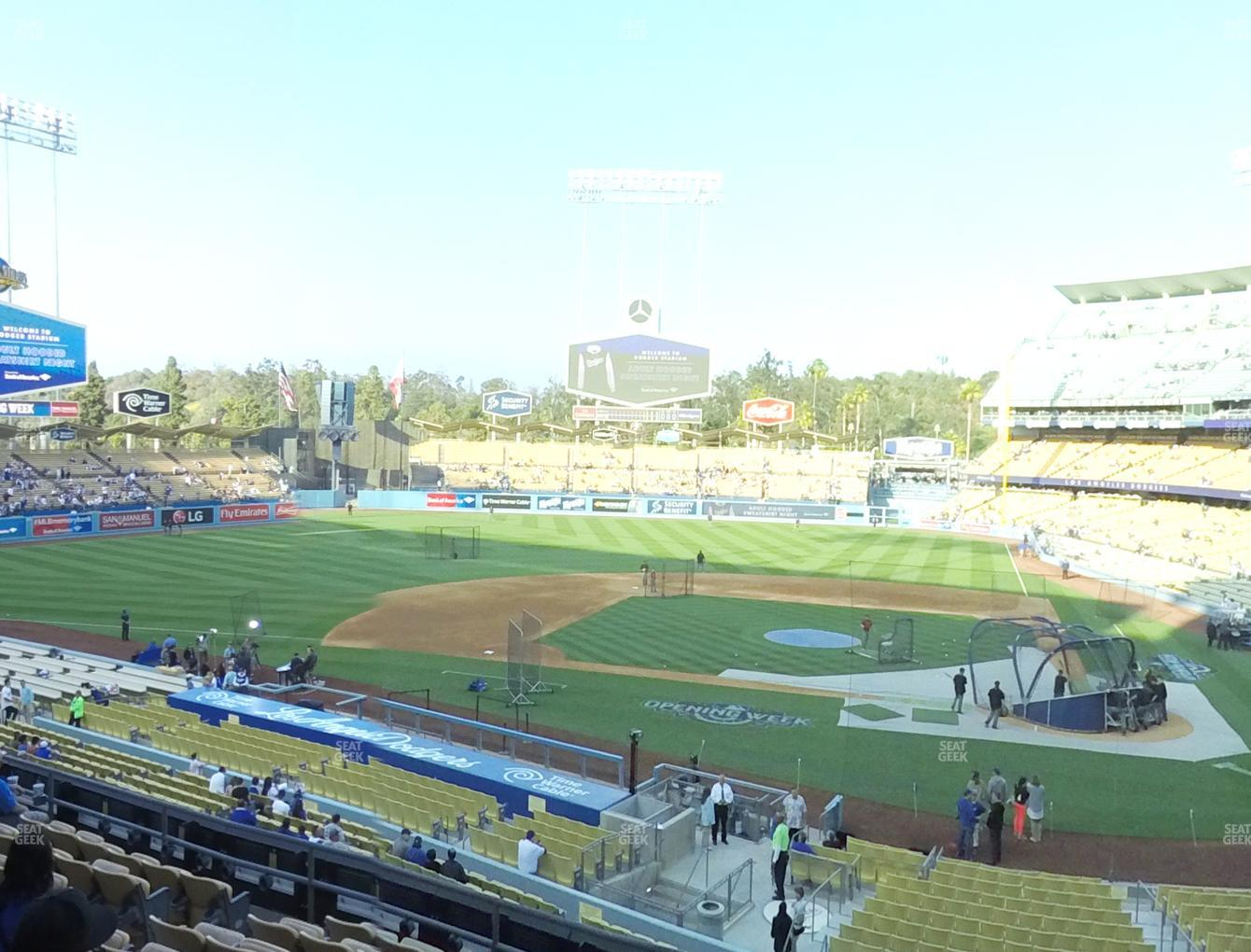 Los Angeles Dodgers at Dodger Stadium Loge Box 121 View