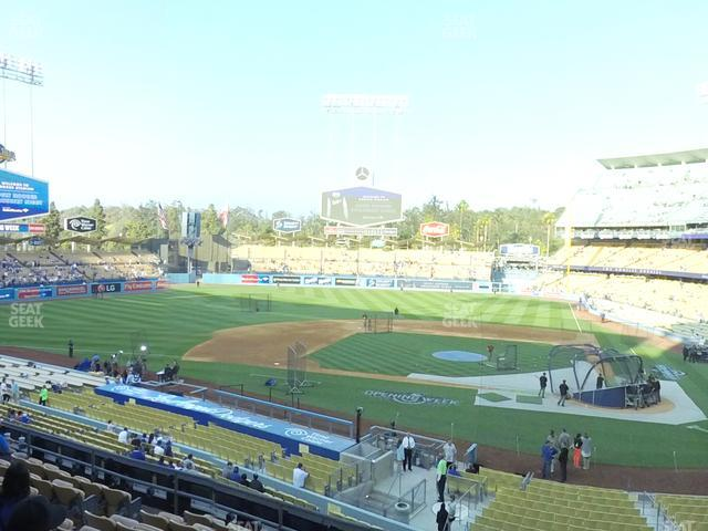 Dodger Stadium Loge Box 121 view