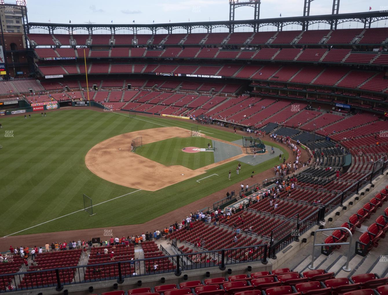 St. Louis Cardinals at Busch Stadium Left Field Pavilion 361 View