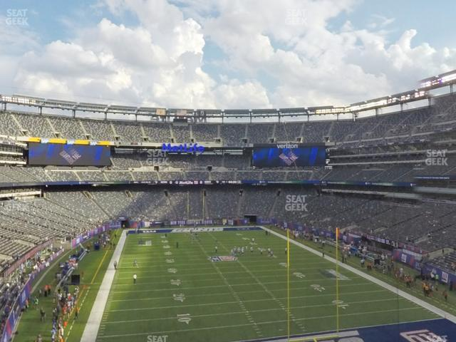 MetLife Stadium Section 203 A view