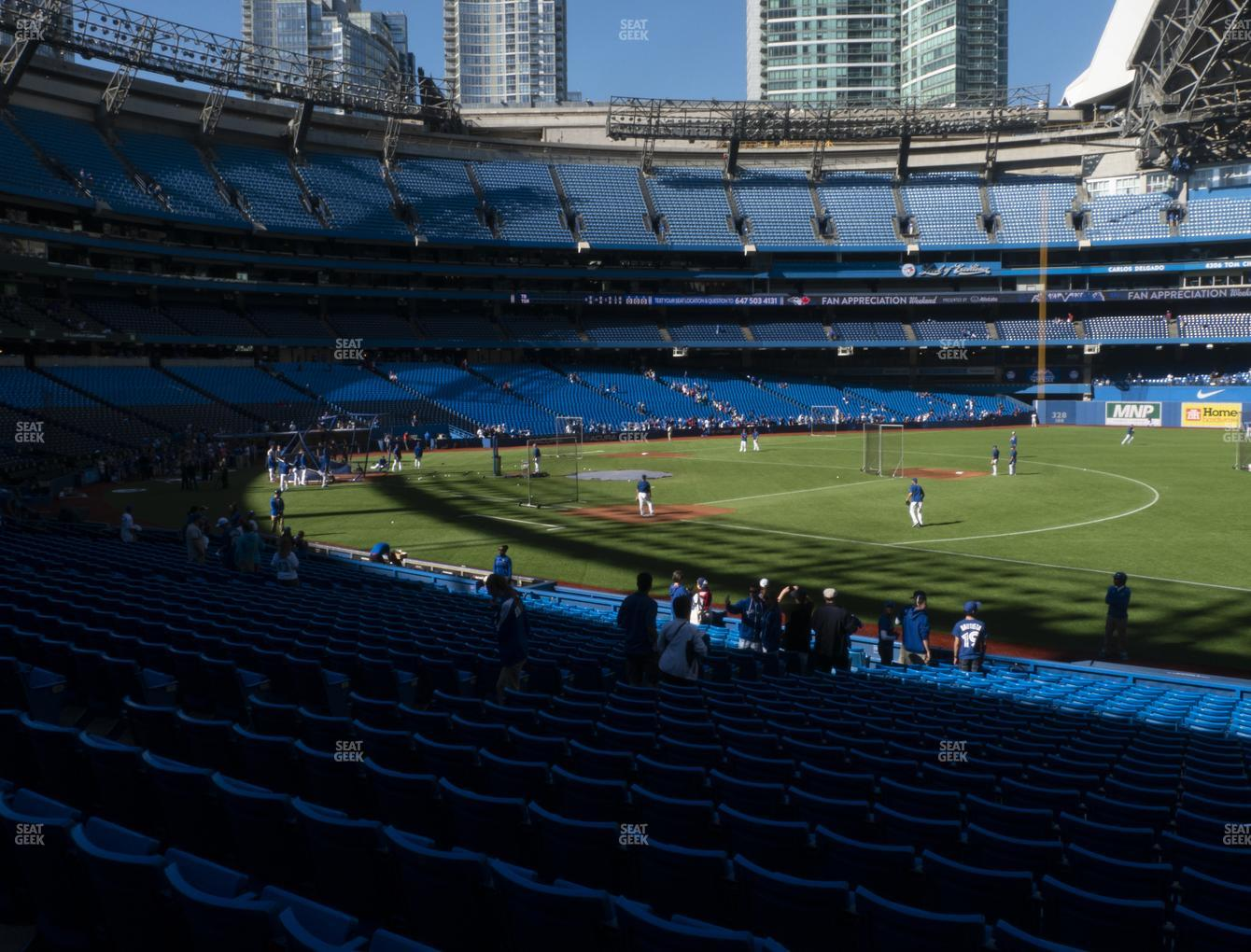Toronto Blue Jays at Rogers Centre Section 114 R View